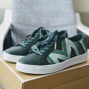 Michael Kors Green Whitney Tri-Color Sneaker